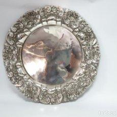 Antigüedades: BANDEJA EN PLATA LEY MARCADO CON CONTRASTE. Lote 206255998