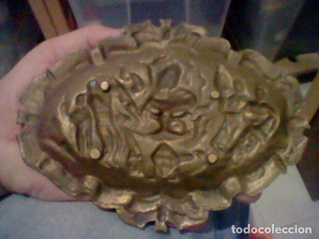 Antigüedades: VALENCIA VACIABOLSILLOS BANDEJA FESTEJOS FALLAS BRONCE - Foto 2 - 206273210