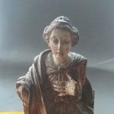 Antigüedades: TALLA EN MADERA POLICROMADA SIGLO XVII. LE FALTAN BRAZOS.. Lote 206274226
