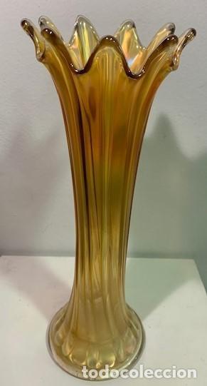 Antigüedades: Carnival Glass, florero. - Foto 2 - 206288716