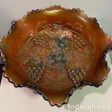 Antigüedades: CARNIVAL GLASS, FRUTERO.. Lote 206288988
