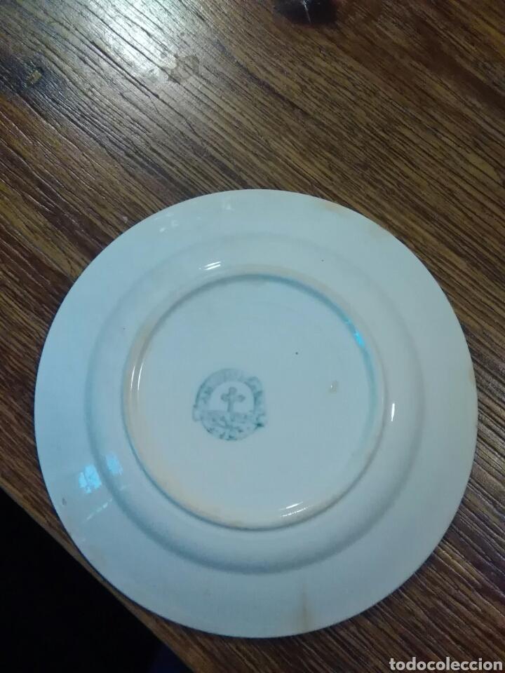 Antigüedades: Lote de platos antiguos marcas ilegibles - Foto 2 - 206296042