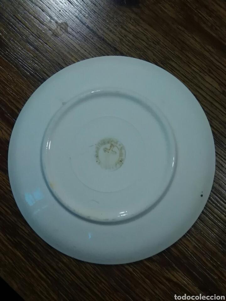 Antigüedades: Lote de platos antiguos marcas ilegibles - Foto 7 - 206296042