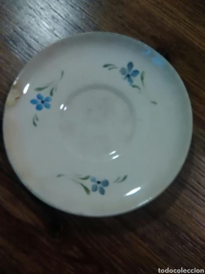 Antigüedades: Lote de platos antiguos marcas ilegibles - Foto 8 - 206296042