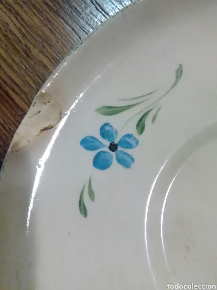 Antigüedades: Lote de platos antiguos marcas ilegibles - Foto 9 - 206296042
