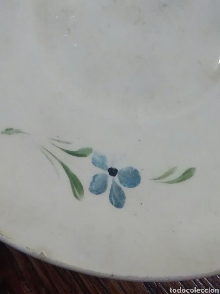 Antigüedades: Lote de platos antiguos marcas ilegibles - Foto 10 - 206296042