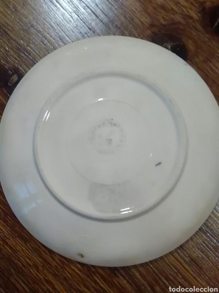 Antigüedades: Lote de platos antiguos marcas ilegibles - Foto 11 - 206296042