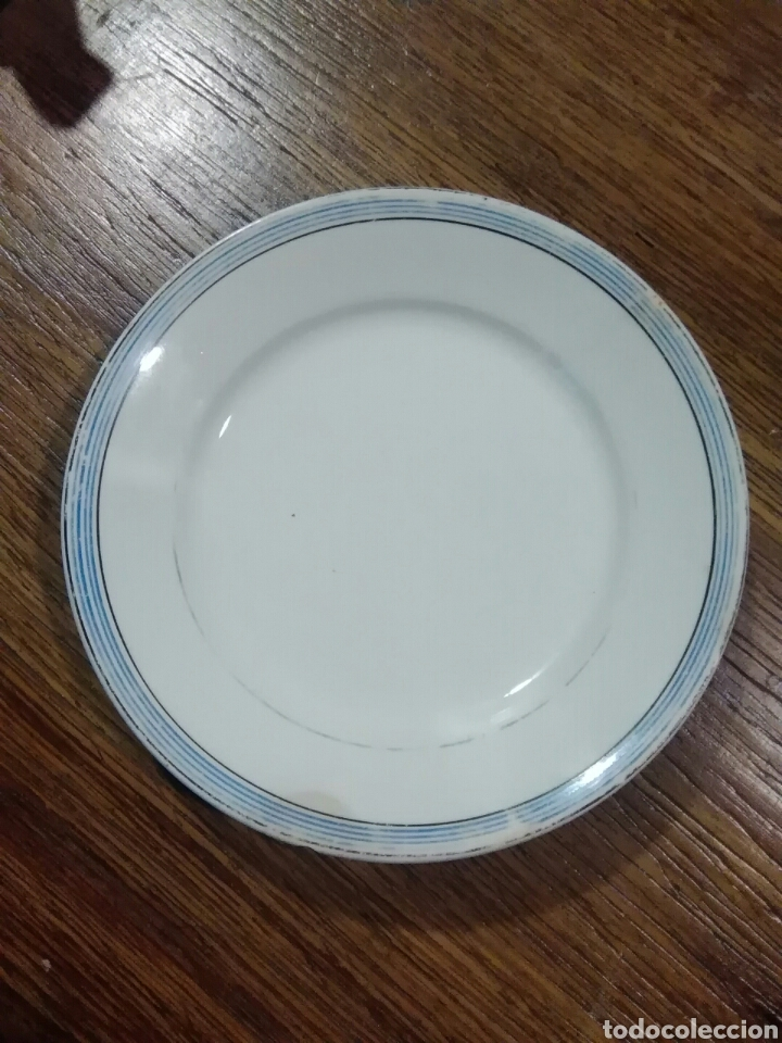 Antigüedades: Lote de platos antiguos marcas ilegibles - Foto 13 - 206296042