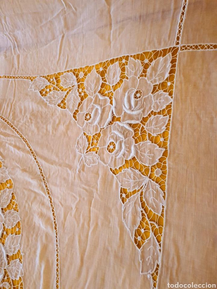 Antigüedades: colcha batista richelieu.matrimonio. estado muy bueno. - Foto 5 - 206308576