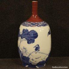 Antigüedades: JARRÓN DE CERÁMICA PINTADA CHINA. Lote 206309772