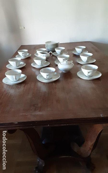 Antigüedades: Precioso juego de té de porcelana KPM Krister Germany 1952, 12 servicios. 37 piezas. Sellado - Foto 2 - 206310940