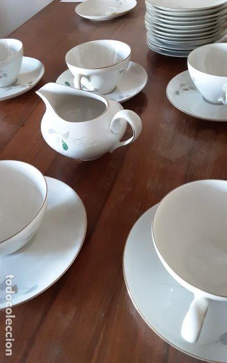 Antigüedades: Precioso juego de té de porcelana KPM Krister Germany 1952, 12 servicios. 37 piezas. Sellado - Foto 3 - 206310940