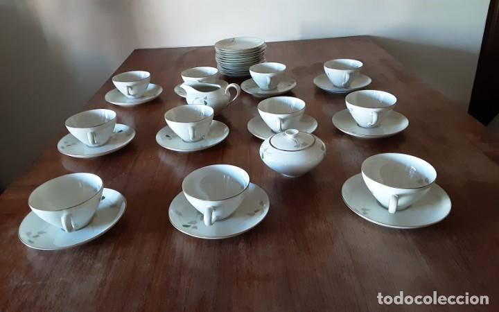 Antigüedades: Precioso juego de té de porcelana KPM Krister Germany 1952, 12 servicios. 37 piezas. Sellado - Foto 4 - 206310940