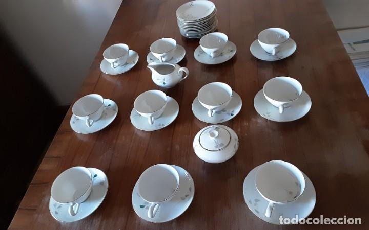 Antigüedades: Precioso juego de té de porcelana KPM Krister Germany 1952, 12 servicios. 37 piezas. Sellado - Foto 5 - 206310940