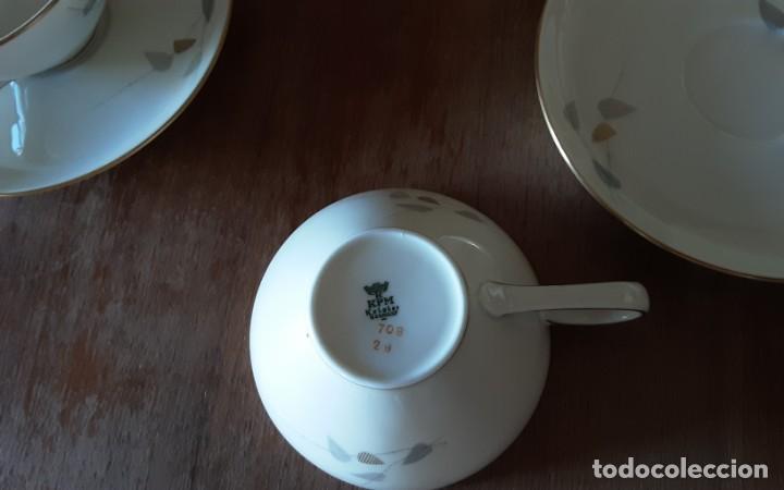 Antigüedades: Precioso juego de té de porcelana KPM Krister Germany 1952, 12 servicios. 37 piezas. Sellado - Foto 6 - 206310940