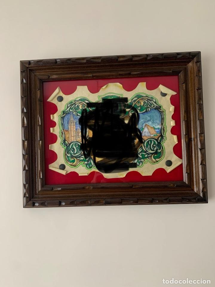 CUADRO MARCO MADERA TALLADA (Antigüedades - Hogar y Decoración - Marcos Antiguos)