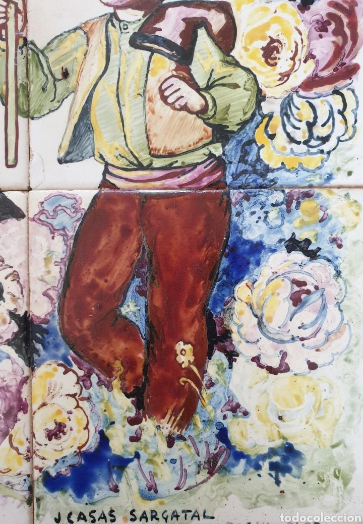 Antigüedades: Jaume Cases Sarguetal (Olot,1906-1963) - Nuestra Sra.de Montserrat.Retablo Cerámico.FirmadoTitulado. - Foto 4 - 197613378