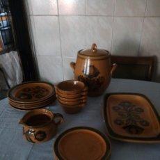 Antigüedades: VAJILLA DE CERÁMICA POPULAR SN,COMPUESTA DE 18 PIEZAS NUMERADAS.PRINCIPIOS SIGLO XX. Lote 206321075