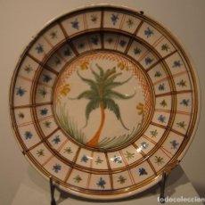 Antigüedades: PLATO DE CERÁMICA DE MANISES O RIBESALBES. SIGLO XIX. DIAMETRO 30 CM. Lote 206326503