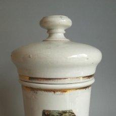 Antigüedades: ALBARELOS TARRO FARMACIA ANTIGUO PORCELANA BLANCA. Lote 206327267