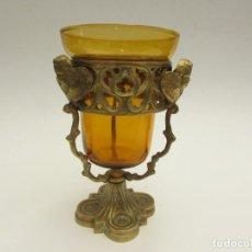 Antigüedades: ANTIGUA LÁMPARA VOTIVA DE SOBREMESA. Lote 206329202