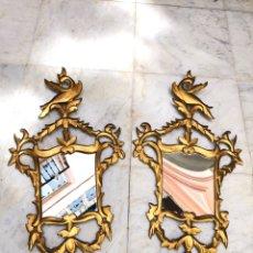 Antigüedades: CORNUCOPIAS MADERA DORADAS SIGLO XX. Lote 206329370