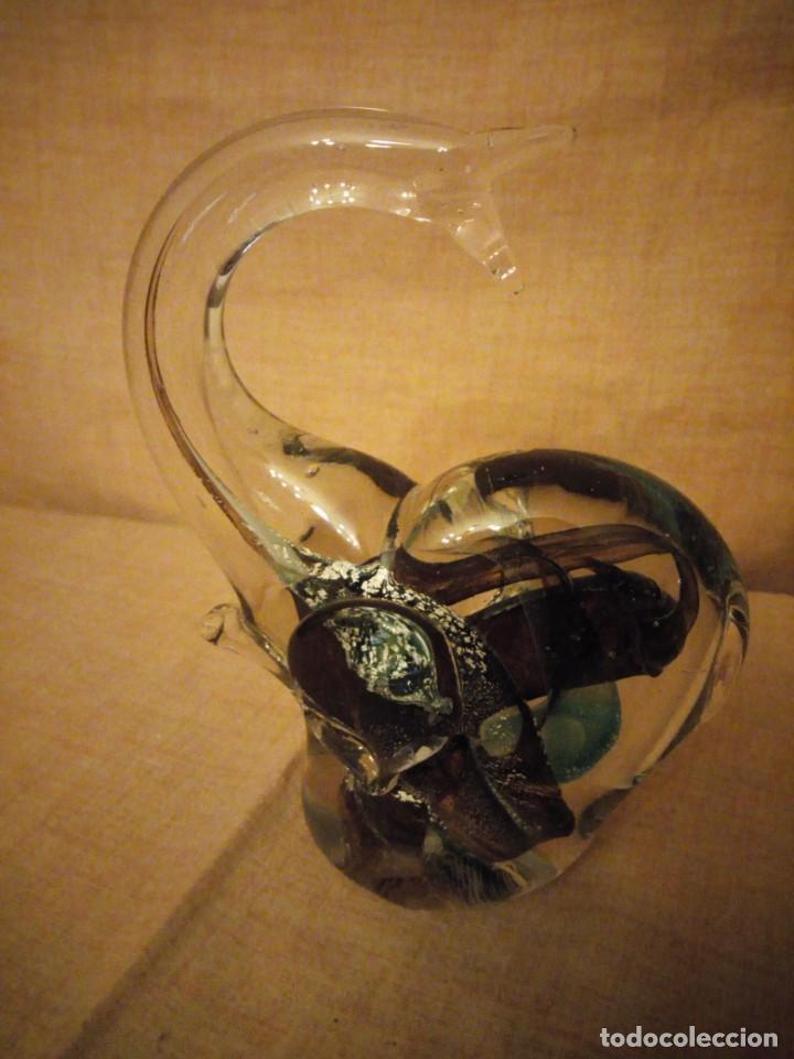 Antigüedades: Precioso elefante de la suerte de cristal de murano,preciosos colores. - Foto 2 - 206331718