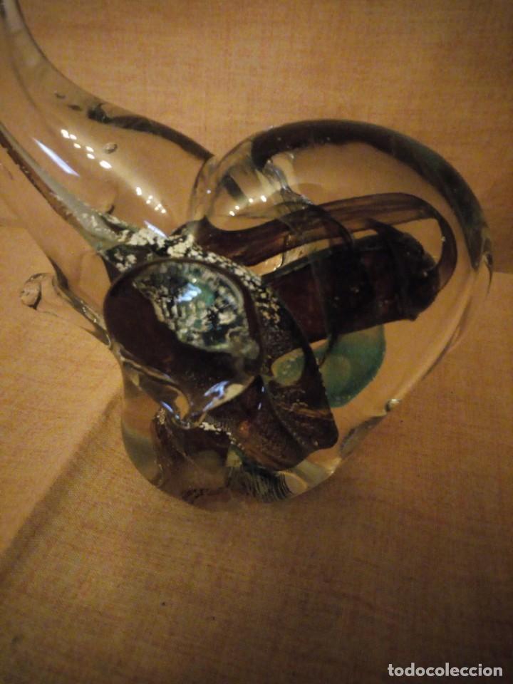 Antigüedades: Precioso elefante de la suerte de cristal de murano,preciosos colores. - Foto 3 - 206331718