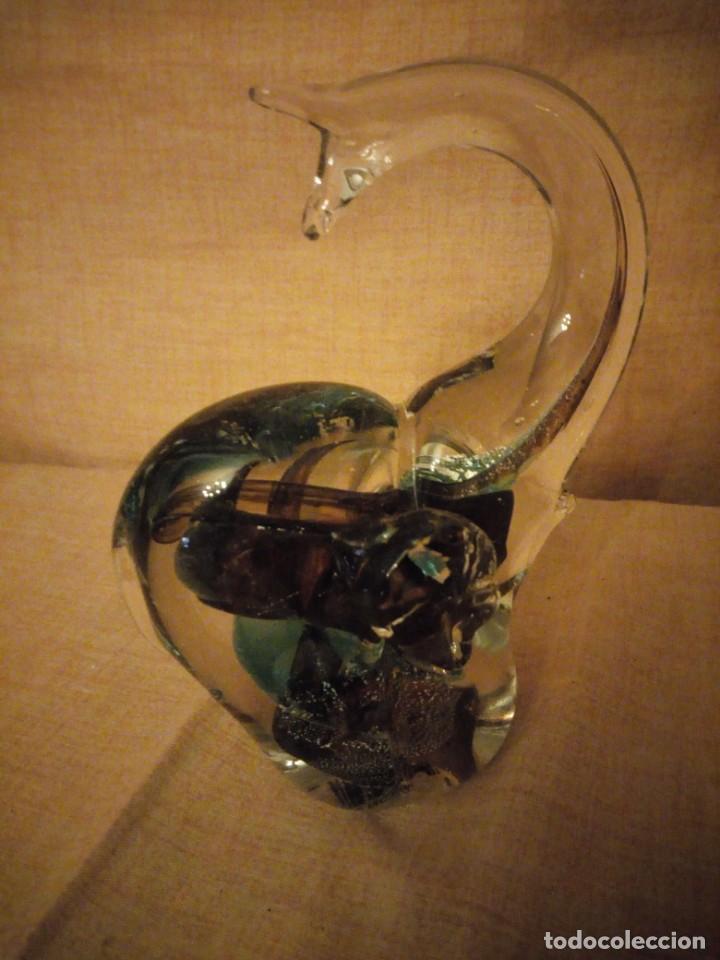 Antigüedades: Precioso elefante de la suerte de cristal de murano,preciosos colores. - Foto 4 - 206331718