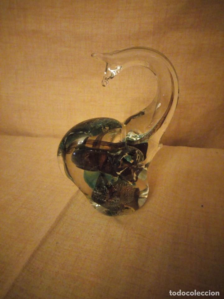 Antigüedades: Precioso elefante de la suerte de cristal de murano,preciosos colores. - Foto 5 - 206331718
