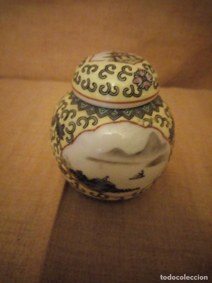 Antigüedades: precioso tibor de porcelana pintado a mano made in china. - Foto 2 - 206332312
