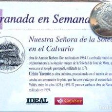 Antiguidades: SEMANA SANTA. GRANADA. MONEDA NTRA. SRA. SOLEDAD EN CALVARIO. A ESTRENAR. Lote 206344315