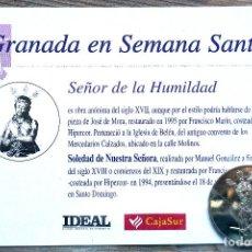 Antiguidades: SEMANA SANTA. GRANADA. MONEDA SEÑOR DE LA HUMILDAD. A ESTRENAR. Lote 206345430