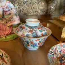 Antigüedades: CUENCO CON PLATO EN PORCELANA CHINA DEL SIGLO XVIII. Lote 206345490
