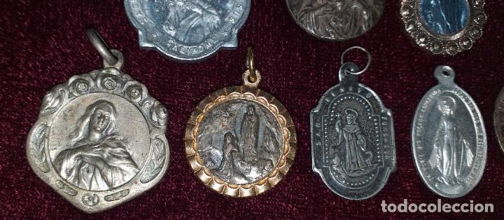 LOTE DE 8 MEDALLAS RELIGIOSAS (Antigüedades - Religiosas - Medallas Antiguas)