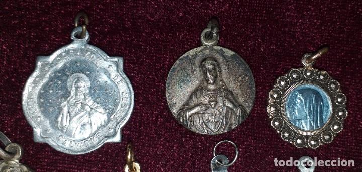 Antigüedades: LOTE DE 8 MEDALLAS RELIGIOSAS - Foto 4 - 206354246