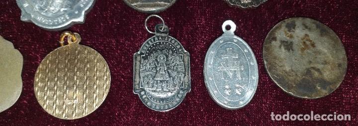 Antigüedades: LOTE DE 8 MEDALLAS RELIGIOSAS - Foto 6 - 206354246