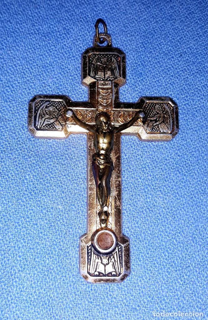 Antigüedades: IMPORTANTE LOTE DE ANTIGUAS CRUCES Y CRUCIFIJOS RELIGIOSOS DE DIFERENTES EPOCAS Y MATERIALES - Foto 9 - 206360987