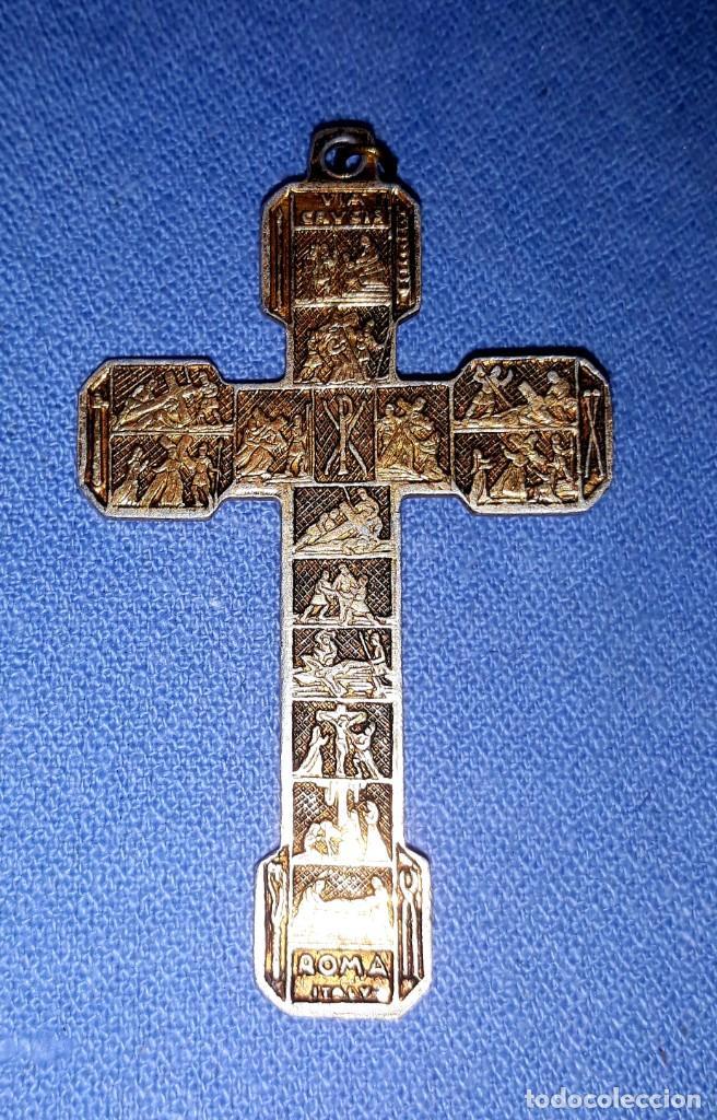 Antigüedades: IMPORTANTE LOTE DE ANTIGUAS CRUCES Y CRUCIFIJOS RELIGIOSOS DE DIFERENTES EPOCAS Y MATERIALES - Foto 10 - 206360987