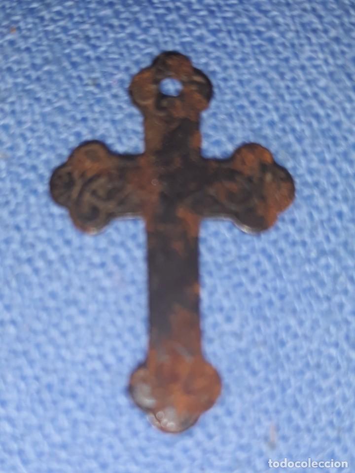 Antigüedades: IMPORTANTE LOTE DE ANTIGUAS CRUCES Y CRUCIFIJOS RELIGIOSOS DE DIFERENTES EPOCAS Y MATERIALES - Foto 12 - 206360987