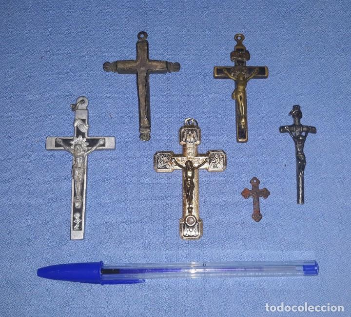 Antigüedades: IMPORTANTE LOTE DE ANTIGUAS CRUCES Y CRUCIFIJOS RELIGIOSOS DE DIFERENTES EPOCAS Y MATERIALES - Foto 15 - 206360987