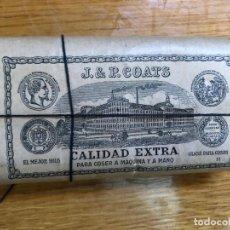 Antigüedades: PAQUETE HILOS SIGLO XIX MARCA J&P COATS DE BARCELONA. Lote 206368518