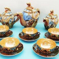 Antigüedades: MAGNIFICO JUEGO DE TE JAPONES 13 PIEZAS, CAFE, DESAYUNO, VER IMAGENES. Lote 206369923