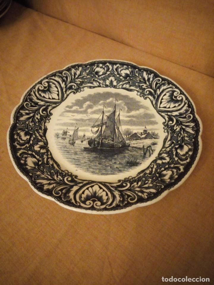 ANTIGUO PLATO DE PORCELANA DELFT ROYAL SPHINX MAASTRICHT,HOLLAND (Antigüedades - Porcelana y Cerámica - Holandesa - Delft)