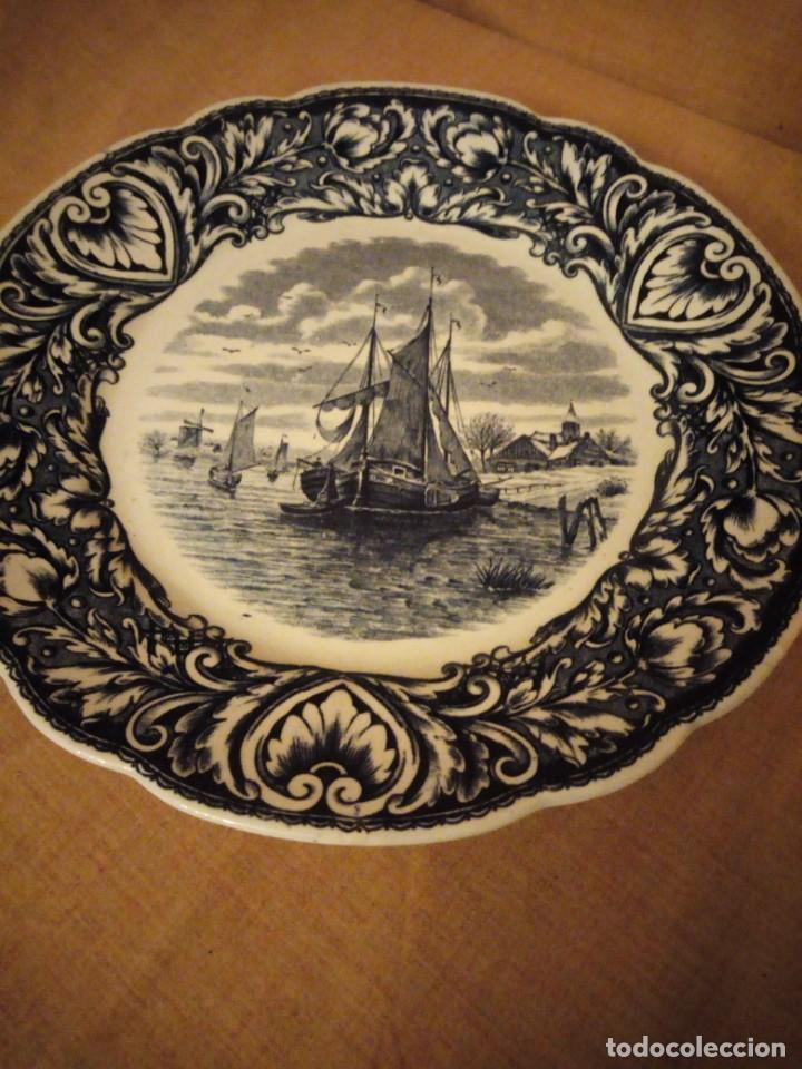 Antigüedades: Antiguo plato de porcelana delft royal sphinx maastricht,holland - Foto 2 - 206378330
