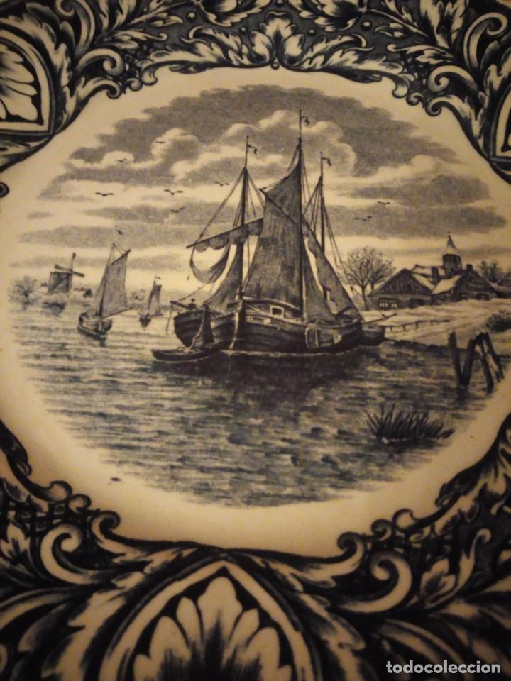 Antigüedades: Antiguo plato de porcelana delft royal sphinx maastricht,holland - Foto 3 - 206378330