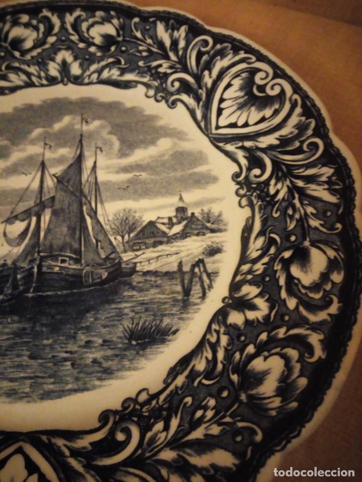Antigüedades: Antiguo plato de porcelana delft royal sphinx maastricht,holland - Foto 4 - 206378330