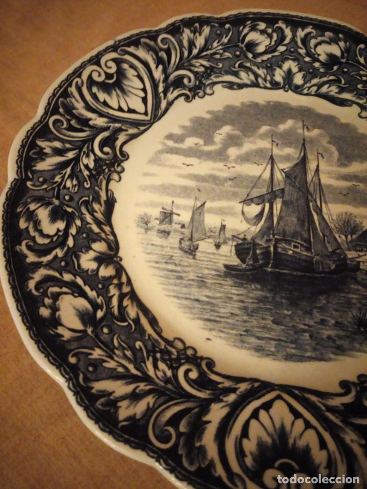 Antigüedades: Antiguo plato de porcelana delft royal sphinx maastricht,holland - Foto 5 - 206378330