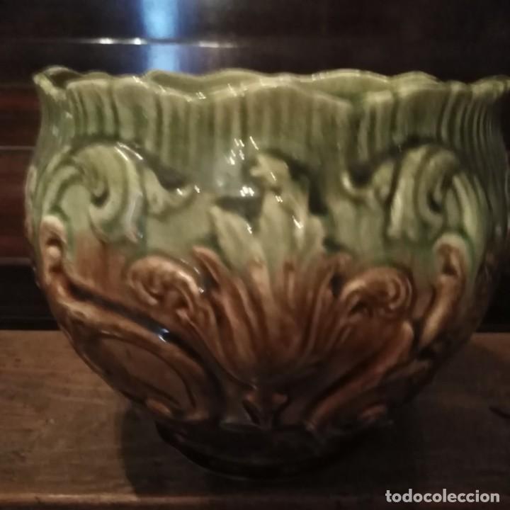Antigüedades: Jardinera modernista de porcelana de Manises del siglo xix - Foto 3 - 206381831