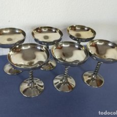 Antigüedades: 6 COPAS VALERO SILVER PLATED (MADE IN SPAIN) - 2. Lote 206395727